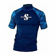 Lycrové triko Scubapro RASH GUARD AEGEAN UPF50, krátký rukáv - pánské