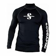 Lycrové triko Scubapro RASH GUARD BLACK UPF50, dlouhý rukáv - pánské