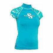 Lycrové triko Scubapro RASH GUARD CARIBBEAN UPF50, krátký rukáv - dámské