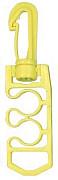 Plastová žlutá karabina - držák hadic AROPEC