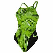 Dámské plavky Michael Phelps MESA LADY MID BACK multicolor/zelená