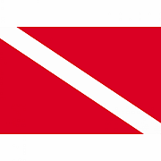 Samolepka potápěčská vlajka DIVING FLAG